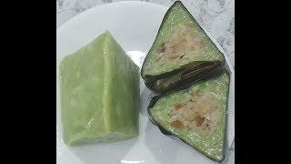Bánh Ít Lá Dứa gân Môn nhân Dừa - New York / Pandan Taro Sweet Rice & Coconut Filling Cake