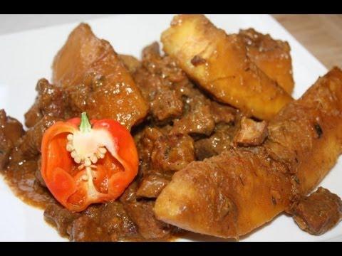 Pork stew with coconut recipe