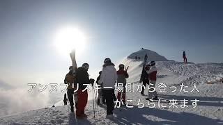 ニセコアンヌプリ山頂から北斜面を滑る (2018/01/17)
