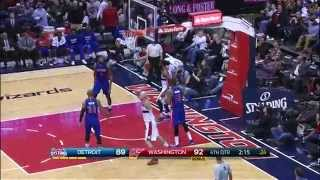 Nene Drives and Rattles the Rim with the Thunderous Dunk