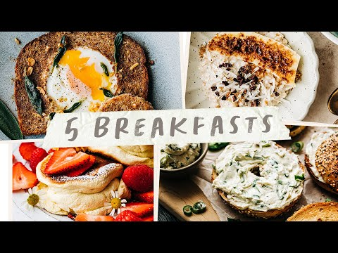 5 Easy BREAKFAST IDEAS - Fast Recipes for Breakfast
