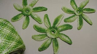 Вязаные цветы крючком. Урок вязания крючком для новичков. How to crochet