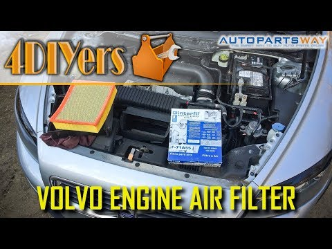 DIY: Volvo S40 C30 V50 C70 Engine Air Filter Replacement