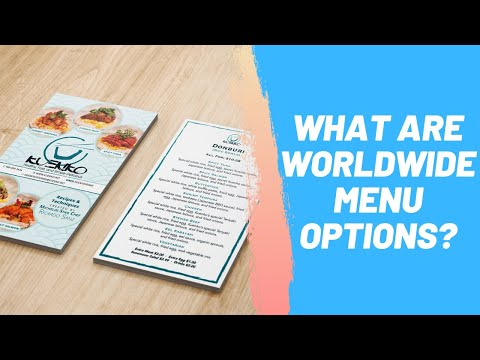 What Are Worldwide Menu Options?