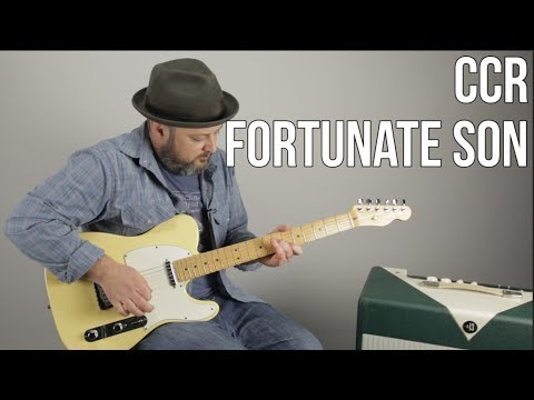 "How to Play ""Fortunate Son"" by CCR On Guitar - Creedence"