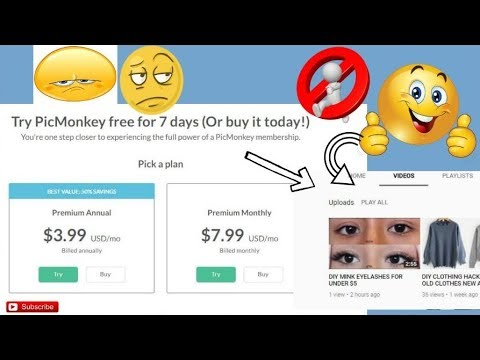 HOW TO USE PICMONKEY FOR FREE WITHOUT A SUBSCRIPTION