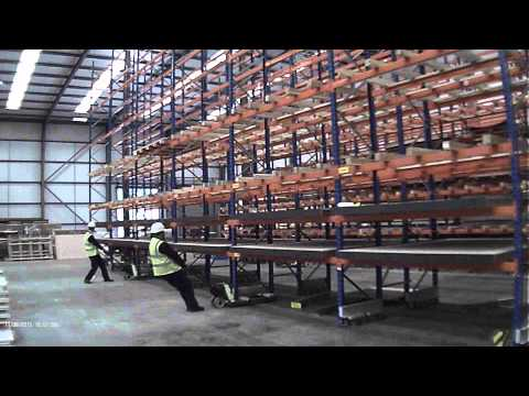 Moving pallet racking by Storage Design Limited