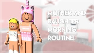 Mom and Kid Morning Routine In Adopt Me! (Role Play)