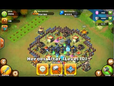 Castle Clash Tutorial - E02 - Power Leveling Heroes Guide