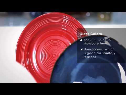Tuxton Foodservice 101 - Three Porcelain Body Types & Glaze Colors