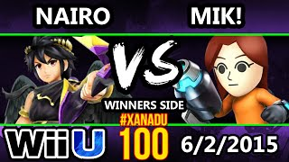 Xanadu 100 - Nairo (Dark Pit) Vs. Mik! (Ness/Mii Gunner) SSB4 Tournament - Smash Wii U - Smash 4