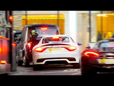 Maserati GranTurismo CRASHES INTO London Taxi!