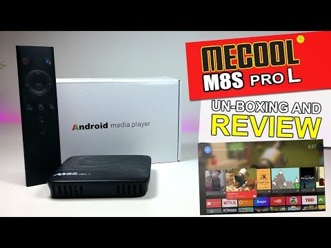 MeCool M8S Pro L Android TVOS  Netflix HD  Voice Control  Unboxing And
