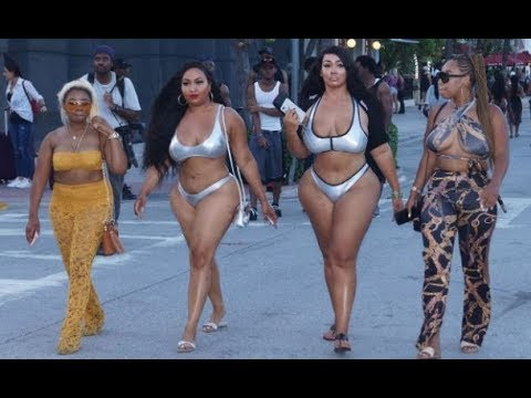 Memorial Weekend '17 No Plastic Surgery Natural Curves On South Beach
