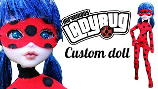 как сделать костюм Леди Баг для куклы Monster High. DIY. How to make costume LadyBug doll