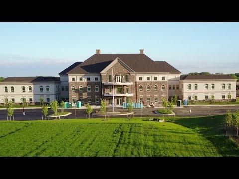 Aerial view of Oakcrest School's new Vienna campus