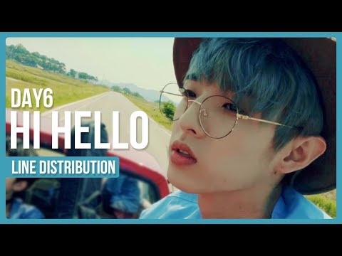 DAY6 - Hi Hello Line Distribution (Color Coded)