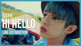 Video DAY6 - Hi Hello Line Distribution (Color Coded) download MP3, 3GP, MP4, WEBM, AVI, FLV Desember 2017