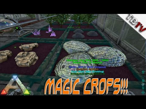 MAGIC CROPS!! Ark Resource Crops - Modded Ark Survival Evolved S1E5  BLACK PEARL FARM! (Gameplay)