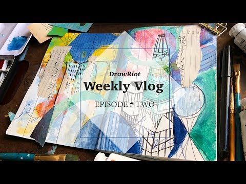 VLOG 2 | Traveling to Dallas, Dallas Museum of Art and my Sketchbook