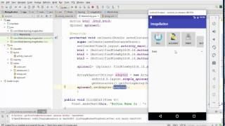 Android|UI|Spinner - Create A spinner from Xml Array strings