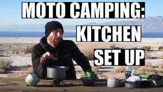 Motorcycle Camping  Gear Kitchen Setup (2018)