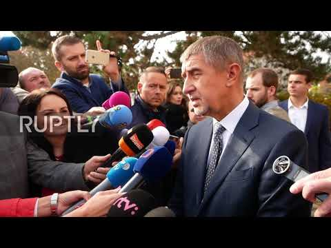 Czech Republic: Favourite to win 'Czech Trump' casts ballot in presidential election