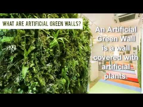 A short introduction to Artificial Vertical Green Walls by GreenTurf
