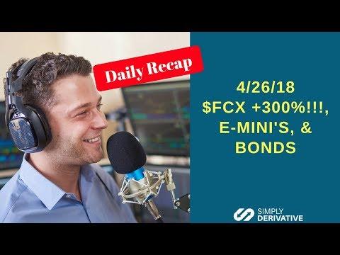 $FCX +300%, E-Mini's, & Bonds- Simply Derivative- Daily Recap- 4-26-18