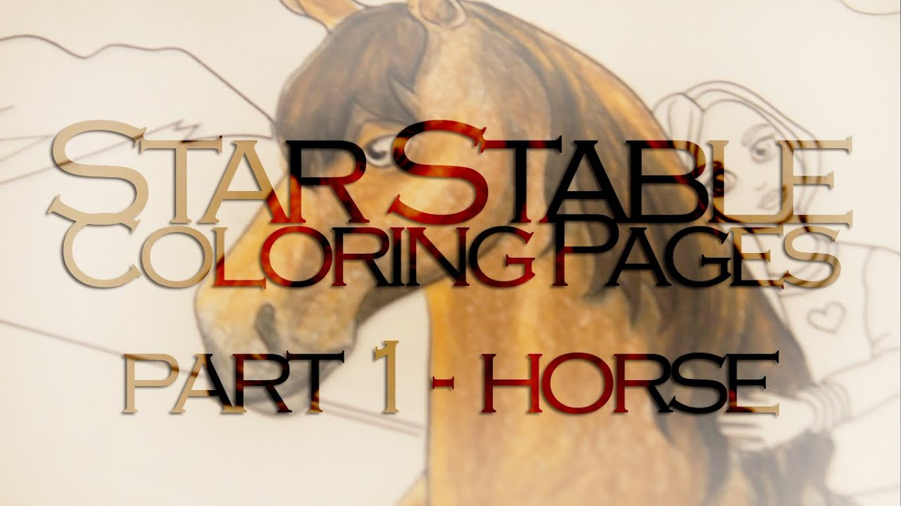 Star Stable Coloring Pages  horse  YouTube