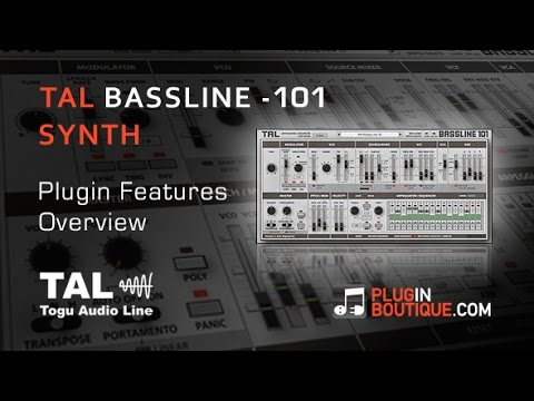 TAL Bassline 101 Synth Plugin - Tour Review With Dom Kane