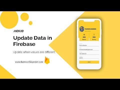 Update Data Firebase Android Studio Edit Profile Android Studio Firebase Firebase realtime database