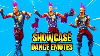 *NEW* RIOT Skin Showcase With Dance Emotes! Fortnite Battle Royale