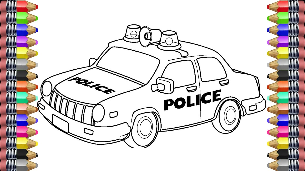 Police car | Coloring Book | Learning colors | Colors for ...
