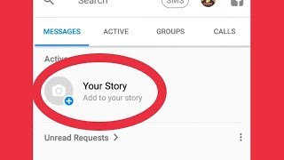 Messenger Your Story Select Hide, Public,Only Friends