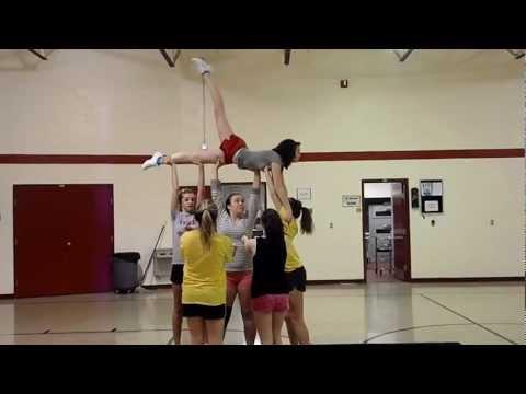 Swedish Falls Cheer Stunt