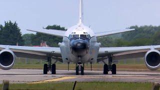 RAF Mildenhall RC-135V Rivet Joint departure - 10th June 2018