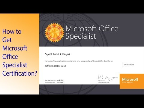 How To Get Microsoft Office Specialist Certification?