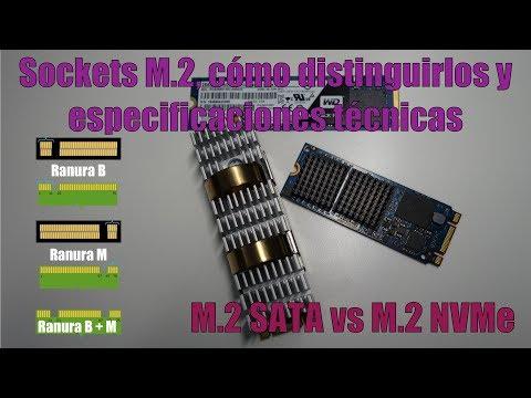 M.2 SATA vs M.2 PCIe. Sockets M.2, cómo distinguirlos y especificaciones técnicas