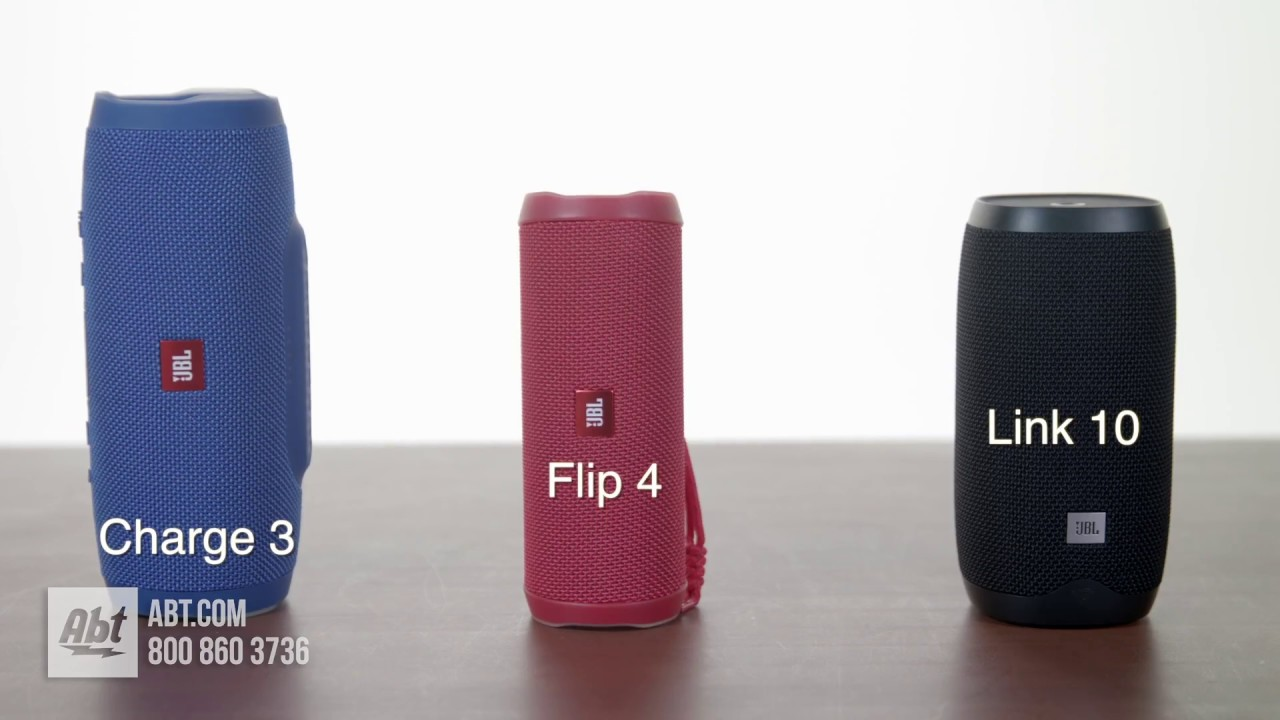 JBL Speaker Comparison: Charge 3 vs Flip 4 vs Link 10