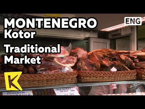 【K】Montenegro Travel-Kotor[몬테네그로 여행-코토르]재래시장의 전통 먹거리/Traditional Market/Meat/Cheese