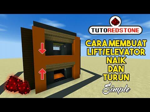 CARA MEMBUAT LIFT/ELEVATOR NAIK & TURUN! TUTOREDSTONE #5
