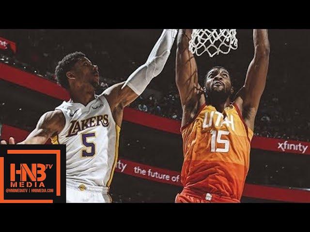 Los Angeles Lakers vs Utah Jazz Full Game Highlights / April 3 / 2017-18 NBA Season