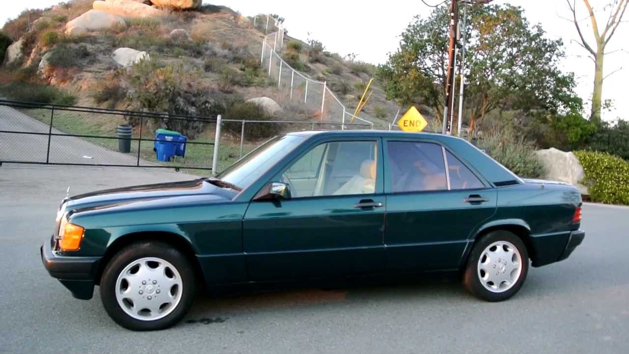 1 owner 1993 mercedes benz 190e limited edition brochure w201 2.3l