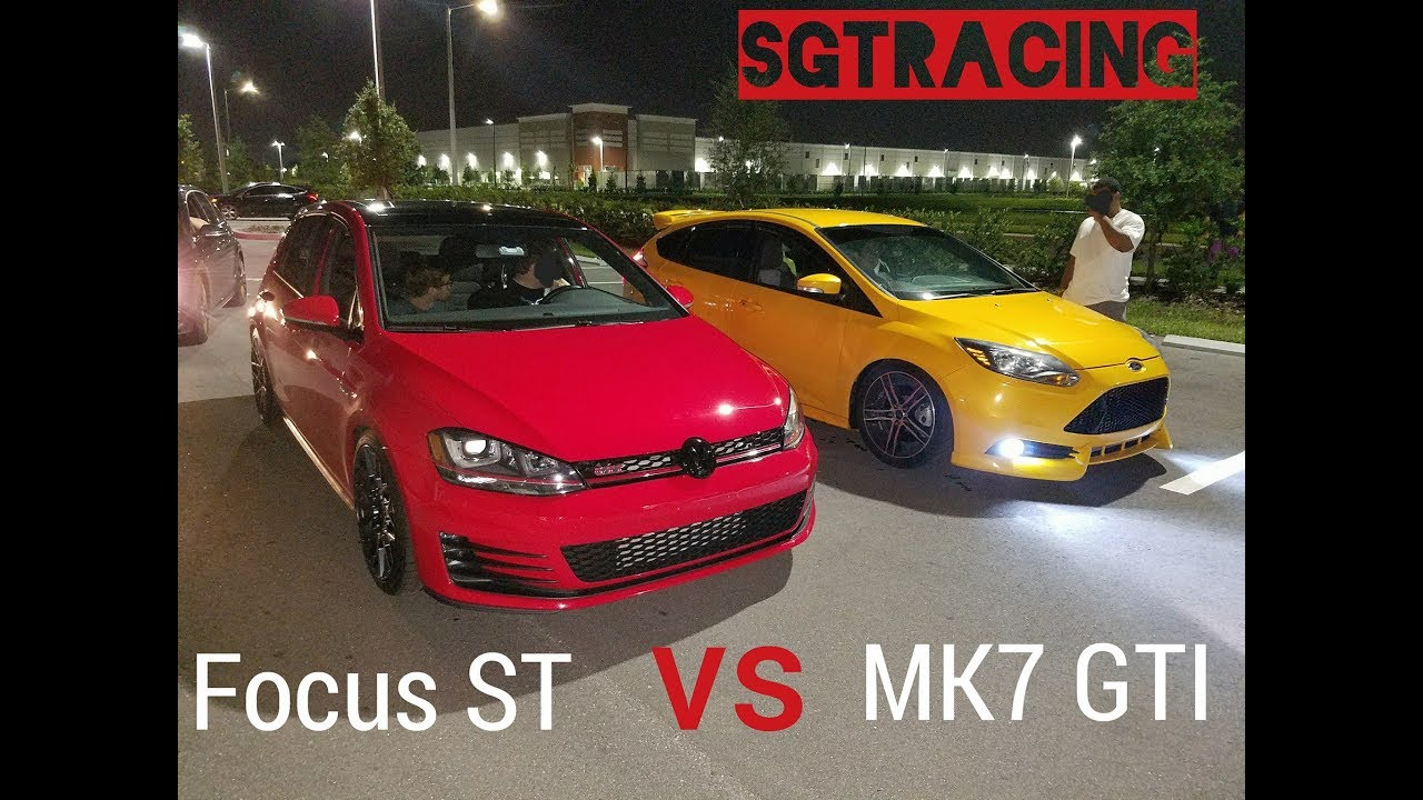 mk7 gti vs focus st nissan 370z vs subaru wrx sti youtube. Black Bedroom Furniture Sets. Home Design Ideas