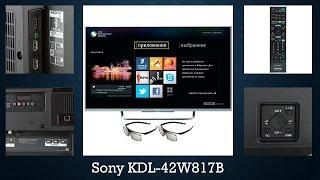 видео Обзор 3D-телевизора SONY KDL-50W817B, тест, отзывы по эксплуатации