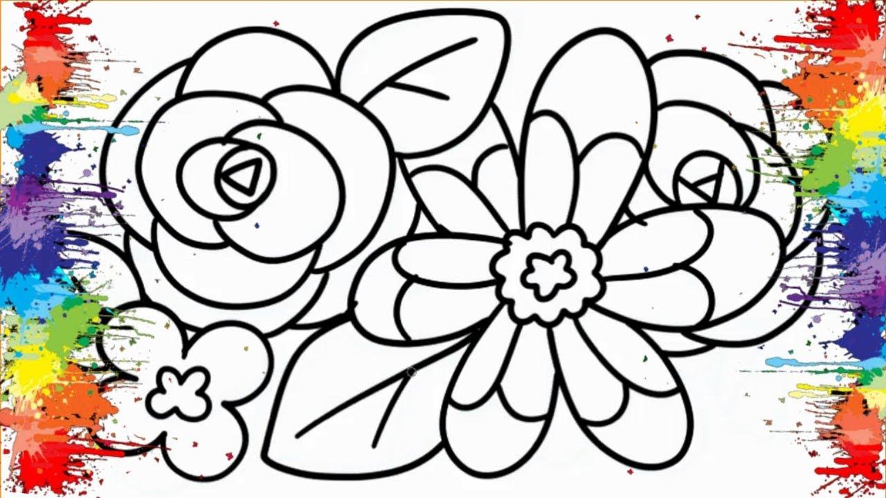 Desenhos Para Colorir Colorindo Flores Colorirdas Lindos Desenhos Para Pintar