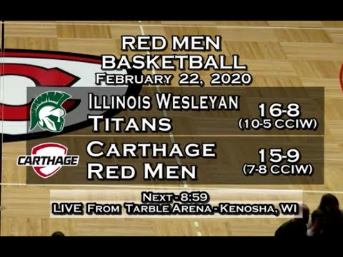 Carthage Men's Basketball Vs. Illinois Wesleyan 2020_2_22
