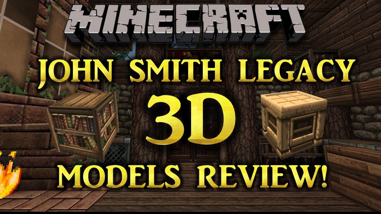 minecraft john smith legacy 3d models addon review 1 8 6 youtube. Black Bedroom Furniture Sets. Home Design Ideas