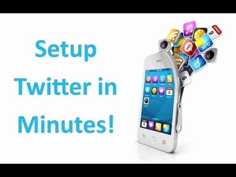 How to setup twitter account